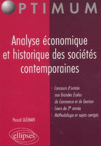 Analyse économique et historique des so...