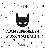 Namenskalender Dieter: Ideales Geschenk mit 12 trendigen Typo-Art-Sprüche mit immerwährendem Kalendarium. Wand-Aufstell-Postkarten-Kalender in einem.