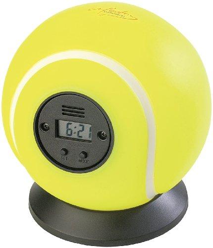 infactory Lustiger Wecker: Wurfwecker Tennisball (Lustiger Fun-Wecker)