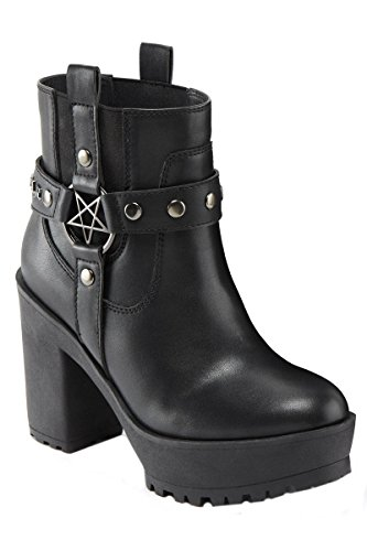 Killstar - Botas de 100 % poliuretano para mujer negro negro, color negro, talla 36 EU