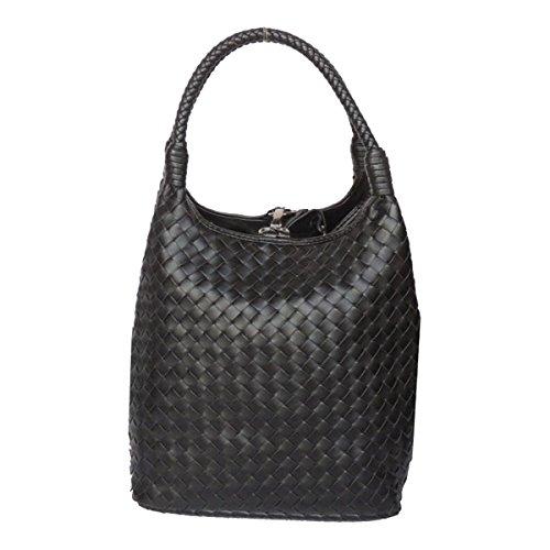 Hand-Woven-Taschen Vertikalschnitt Glamour Handtasche Wannenbeutel Multicolor Damen Mode Handtaschen Kleine Luxus Atmosphäre Handtasche Black