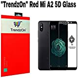 TrendzOn® With Xiaomi Red Mi A2 / Mi A2 - Ideal 5D Premium Full Front Body Coverage/ 9H Edge To Edge Full Glue Round Curved With Black Rim 5D Tempered HD Glass For Xiaomi Red Mi A2 / Mi A2 - Black, (Pack Of 3)