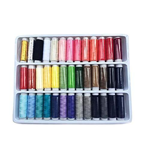 Trifycore Surtido Colorido de Coser de poliéster Carrete de Hilo Juego de Conjunto de Herramientas de Costura 39pcs Manual de Calidad