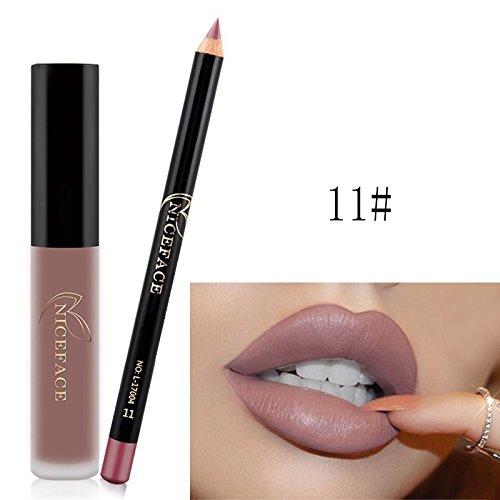 NICEFACE Wasserdicht Langlebig Matte Liquid Lipstick Schönheit Lippe Gloss Moisturizing mit...