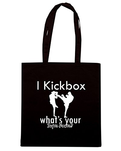 T-Shirtshock - Borsa Shopping TAM0050 i kickbox hoodie dark Nero