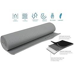 Strauss Yoga Mat, 6mm (Grey)