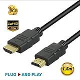 SUNSEATON Cavo HD 1.4, Maschio a Maschio per Cavo HDMI di Supporto HD 1080P per TV/PC/DVD/Proiettori/Console di Gioco/STB/Monitor (1.5M)