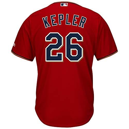 YQSB Jersey Baseball Baseball League # 26 Kepler Minnesota Twins Besticktes Baseballtrikot,Men-XXL