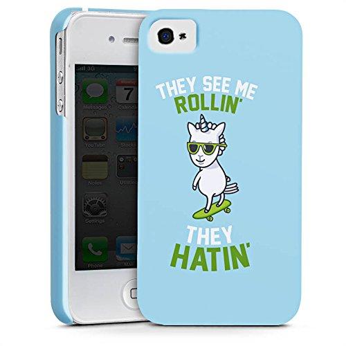 Apple iPhone X Silikon Hülle Case Schutzhülle Einhorn Unicorn Statement Premium Case glänzend