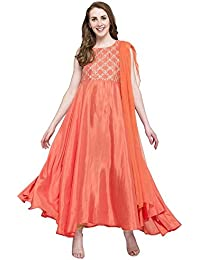 [Sponsored]Kashish By Shoppers Stop Womens Round Neck Solid Churidar Suit