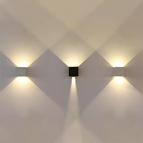 etime led wandleuchte au en wandlampe wasserdicht mit einstellbar abstrahlwinkel ip65 led. Black Bedroom Furniture Sets. Home Design Ideas
