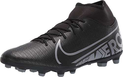 Nike Unisex-Erwachsene Mercurial Superfly 7 Club Mg Fußballschuhe, Mehrfarbig (Black/MTLC Cool Grey/Cool Grey 1), 43 EU