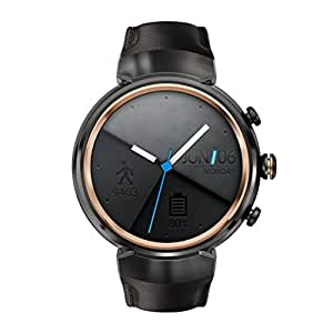 Asus Zenwatch 3 WI503Q-1LDBR0001 (3,5cm (1,39 Zoll), Amoled, 400 x 400 Qualcomm Snapdragon Wear 2100, 512MB, 4GB, Android Wear Lederarmband) dunkelbraun