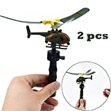 Vovotrade® 2PCS Drôles d'Hélicoptères Enfants Créatifs Jouets Plein Air Drone Cadeaux Journée Enfants Funny Helicopter Kids Creative Outdoor Toy Drone Children's Day Gifts (color)