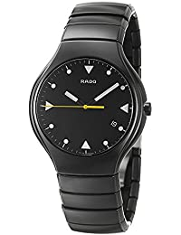 Rado True Black Ceramic Mens Watch Quartz Black Dial Calendar R27816162