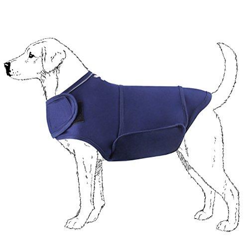 Ropa de Perro Camisetas antiansiedad Chaqueta Antiestres para Perro, Azul Marino, M, en Rabbitgoo