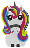 3C Collection Cover iPhone 6 Unicorno, Cover iPhone 6S Unicorno, Cover Cartoni Animati per iPhone 6 6S 4.7' Silicone Gomma