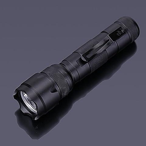 soxid (TM) portatile 3W UV LED Torcia con luce viola luce con Penna clip denaro Stain Detector luci