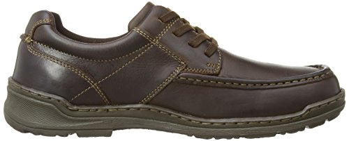 Hush Puppies Grounds Oxford MT, Oxford homme Marron - Brown Leather