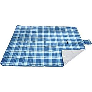 AmazonBasics – Picknickdecke, campingdecke mit wasserdichter Unterseite, 200 x 200 cm