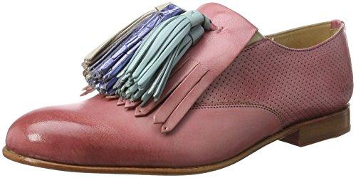 Melvin & Hamilton Damen Sally 57 Slipper, Pink (Venice Perfo/Venice Rose/ Rose/ Tassel Multi LS-Nat), 41 EU Pink Form