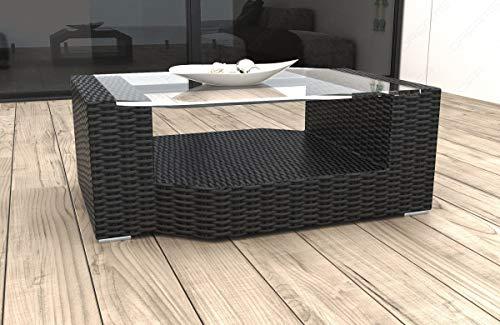 Sofa Dreams Designer Rattan Tisch Messana für Garten und Terrasse