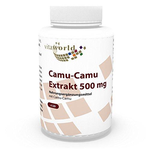 Vita World Camu-Camu Extrakt 500mg 120 Vegi Kapseln Apotheken Herstellung 125mg natürliches Vitamin C pro Kapsel