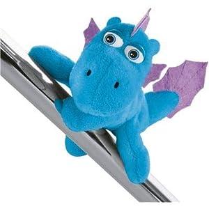 NICI 42381Dragón Coco magnético Animales Agua Dragón wokki, 12cm, Azul, ca