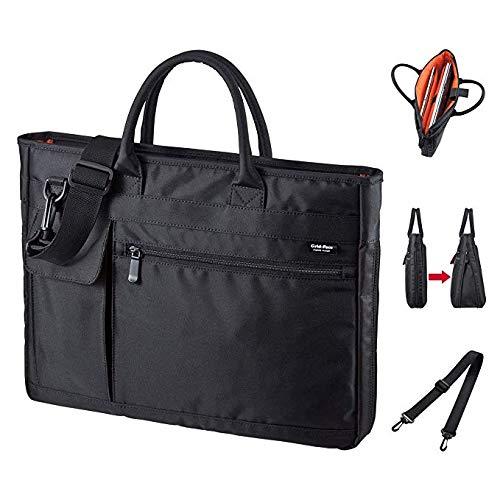 Erweiterbare Laptop-tasche (ZHAIFENGFENG1 2-in-1-Laptop-Aktentasche, erweiterbare Business-Tasche, Handtaschen-Umhängetasche, geeignet für Männer/Frauen/Geschäftsreisen, schwarz)