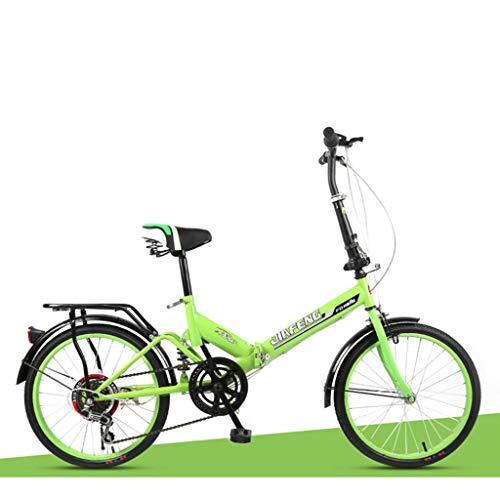 Faltrad Rennrad Erwachsener Mann und Studentin Fahrrad City Bike (Color : Green)