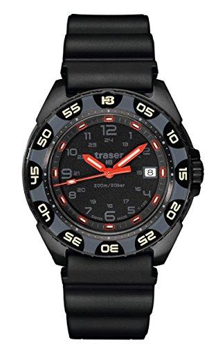 Traser H3rojo alerta T100Sapphire reloj–negro–la OTAN