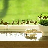 Tanzimarket - Las hormigas de alta calidad Moving Art pared decorativos Pegatinas - Black