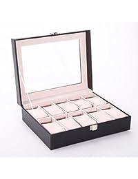 Versand aus Deutschland!!Uhrenbox Uhrenkoffer für 10 Uhren Uhrenkasten Uhrenschatulle Schmuckkasten Schmuckkoffer Schaukasten
