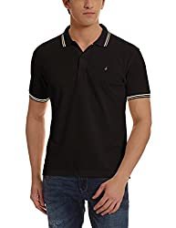 John Players Mens Cotton Polo (8907482016838_JCMCTSF017012001_Small_Jet Black)