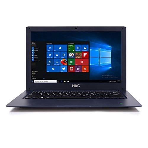 HKC N13RA-DE 13,3 Zoll / Full HD Notebook (Intel Celeron N3350 Dual-Core, 4 GB RAM, 32 GB Flash HDD, Intel HD Graphics 500, Bluetooth, Window 10 Home) , Germany Keyboard, Navy blau
