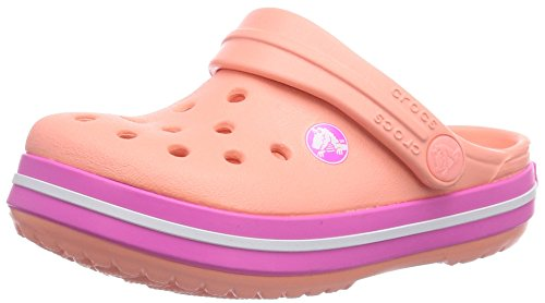 Crocs Crocband Kids, A bout rond mixte enfant Rose (Melon/Neon Magenta)