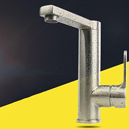 LJ 304 Edelstahl Waschbecken Drehen Erhöhen Hohe Einlochmontage Wasserhahn (3 8 1 4 Drehen Sie Das Ventil)
