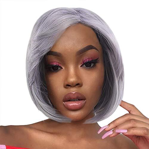 serliy Europa und die Vereinigten Staaten Perücken Weibliche graue Mode kurzes Haar afrikanisches Haar (Lila) -