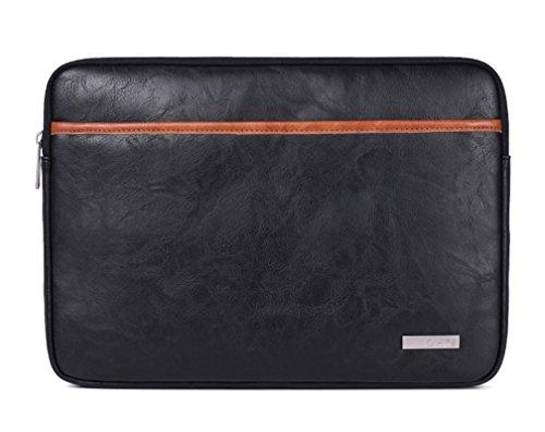 13-15 Pouces Housse pour Ordinateur Portable en Faux cuir Pochette Sacoche pour Ultrabook Netbook