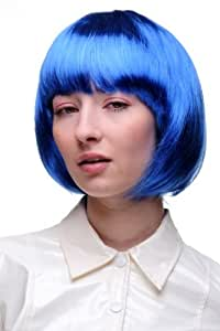 WIG ME UP Party/Fancy Dress/Halloween Lady WIG Bob fringe short sexy BLUE disco PW0114-PC3 COSPLAY