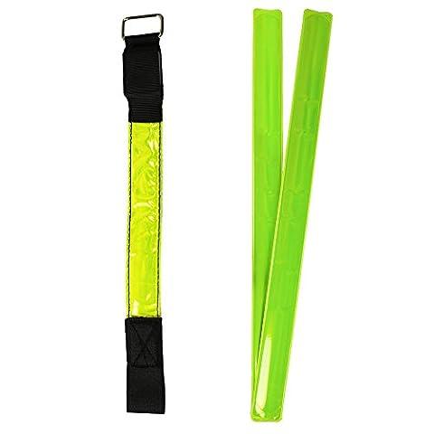 COM-four velcro ® vif avec bandes réfléchissantes et schnappband lED
