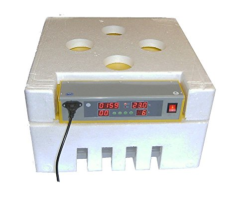 Motorbrüter Vollautomatisch mit Umluftmotor energiesparer Incubator/Inkubator/Brüter/Brutmaschine/Brutgerät für 48 Eier Flächenbrüter
