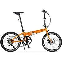 Bicicleta De Ciudad 20 Pulgadas 8 Velocidades Pliegue Bici con Freno de Disco mecánico para Unisex