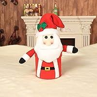 Hffan Weihnachten Candy-Box Süßigkeitenbeutel Aufbewahrungsbox Puppe Tuch Karikatur Dekoration Hauptdekoration Schneemann Pinguin Santa(Santa,23 x 14 cm)