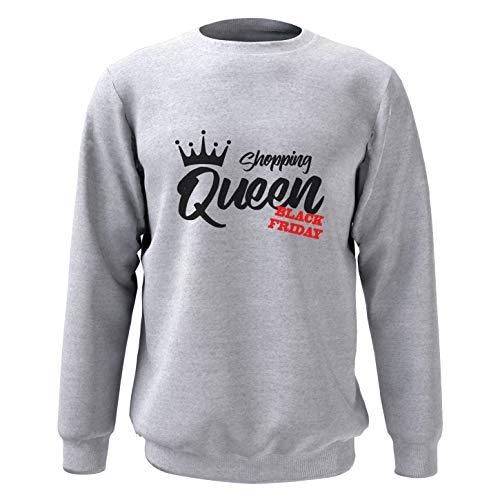 5bf92389dd6b King Shirt Shopping Queen Felpa Gift for Shopping Queen Regalo per Amico  Grigio XXL
