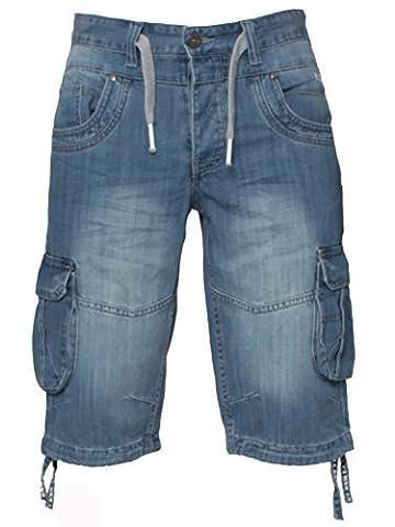 ETO Jeans Pour Hommes Cargo Combat Style Jeans Été Shorts