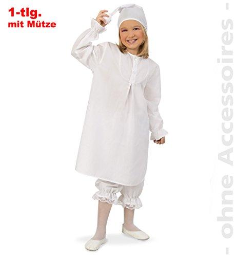 Kostüm Nachthemd Weißen Tanz - Nachthemd mit Mütze Kinderkostüm 152/164