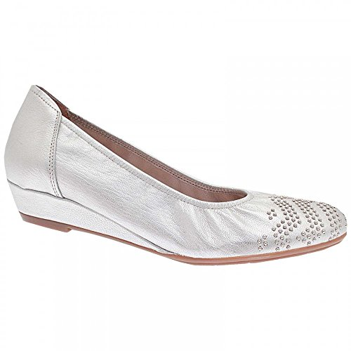 Sabrinas Low Wedge Studded Ballet Pump 5 Silver