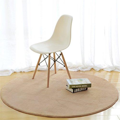 Alfombra redonda en la sala de estar del dormitorio ( Color : Khaki , Tamaño : Diameter 180cm )