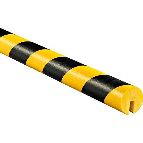 KNUFFI S/G, LÄNGE 5 M Kantenschutzprofil Typ B, zum Aufstecken, gelb/schwarz, 5 m aus Kunststoff